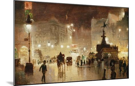 Piccadilly Circus, London-George Hyde-Pownall-Mounted Giclee Print
