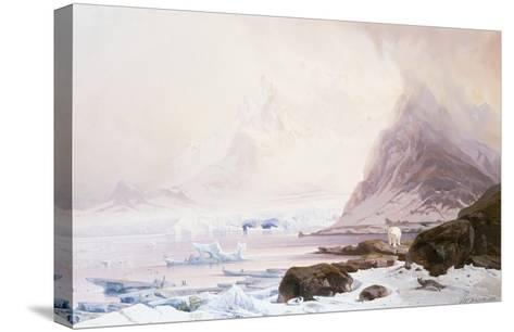 Summer Night at Smeerenberg, Norway-Franz Wilhelm Schiertz-Stretched Canvas Print