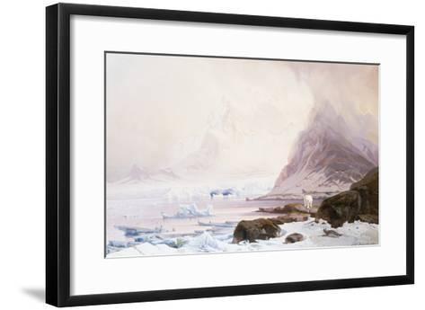 Summer Night at Smeerenberg, Norway-Franz Wilhelm Schiertz-Framed Art Print