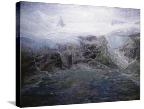 A Glacier in a High Valley-Emile Mediz-Pelikan-Stretched Canvas Print