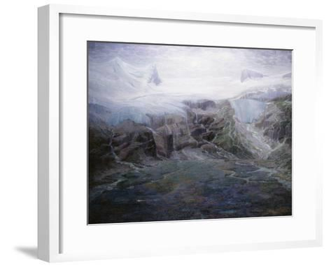 A Glacier in a High Valley-Emile Mediz-Pelikan-Framed Art Print