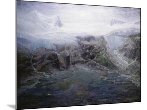 A Glacier in a High Valley-Emile Mediz-Pelikan-Mounted Giclee Print