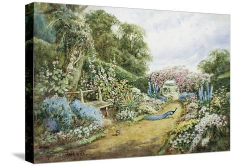 An English Country Garden-Henry Stannard-Stretched Canvas Print