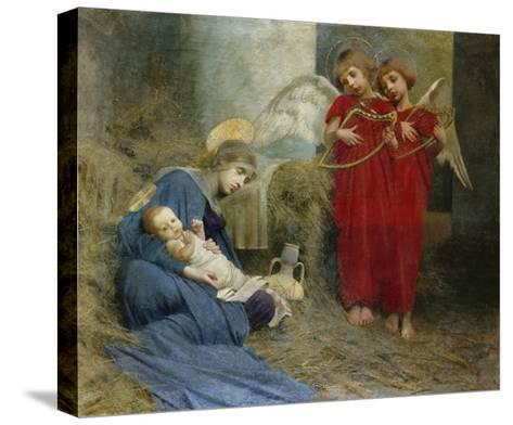 Angels and Holy Child-Marianne Stokes-Stretched Canvas Print