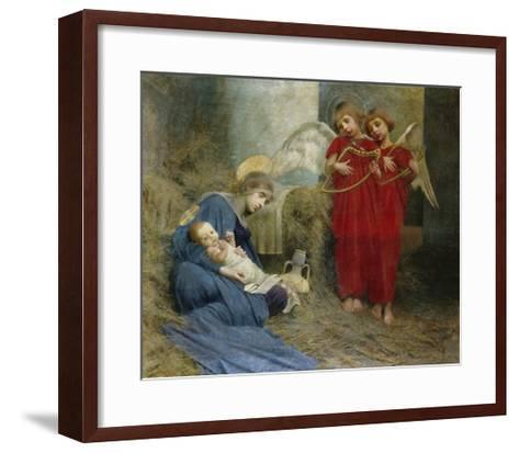 Angels and Holy Child-Marianne Stokes-Framed Art Print