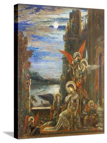 Saint Cecilia-Gustave Moreau-Stretched Canvas Print