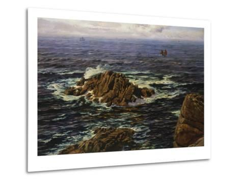 Land's End, Cornwall, England-John Brett-Metal Print