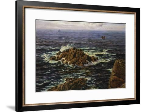Land's End, Cornwall, England-John Brett-Framed Art Print
