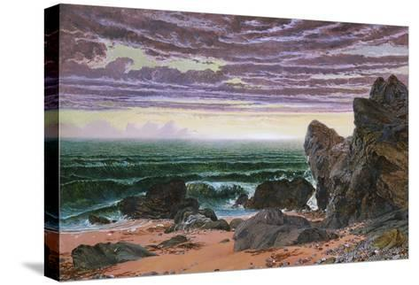 Sunset over the Sea-William Bell Scott-Stretched Canvas Print
