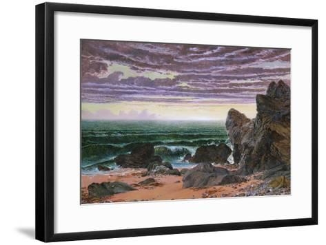 Sunset over the Sea-William Bell Scott-Framed Art Print