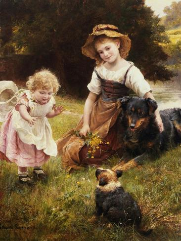 Clean as a New Pin-George Hillyard Swinstead-Stretched Canvas Print