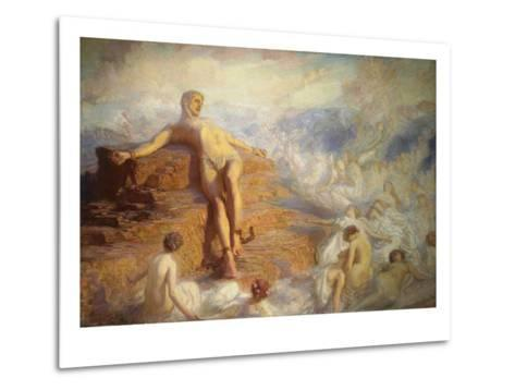 Prometheus Consoled by the Spirits of the Earth-George Spencer Watson-Metal Print