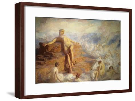 Prometheus Consoled by the Spirits of the Earth-George Spencer Watson-Framed Art Print