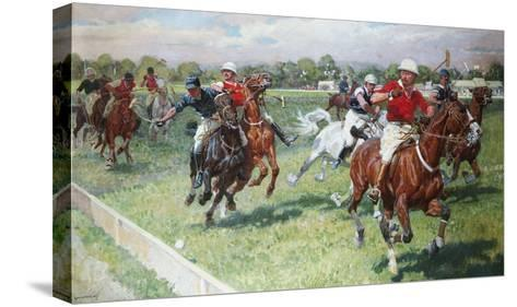 The Polo Game-Ludwig Koch-Stretched Canvas Print