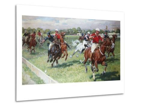 The Polo Game-Ludwig Koch-Metal Print