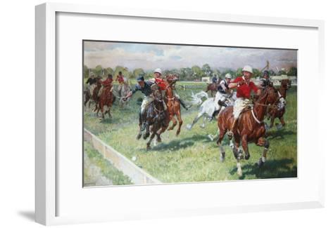 The Polo Game-Ludwig Koch-Framed Art Print