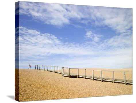 Boardwalk at Chesil Beach in Dorset-Mark Bolton-Stretched Canvas Print