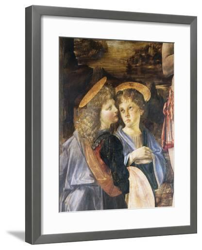 Detail of Baptism of Christ-Leonardo da Vinci-Framed Art Print