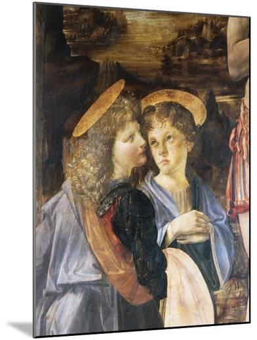 Detail of Baptism of Christ-Leonardo da Vinci-Mounted Giclee Print