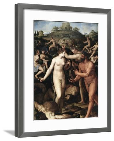 Hercules and the Muses-Alessandro Allori-Framed Art Print
