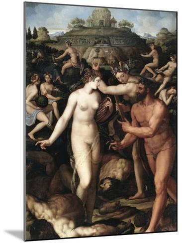 Hercules and the Muses-Alessandro Allori-Mounted Giclee Print
