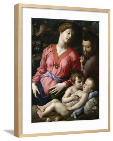 Holy Family with the Young Saint John-Agnolo Bronzino-Framed Art Print