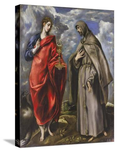 Saint John the Evangelist and Saint Francis-El Greco-Stretched Canvas Print