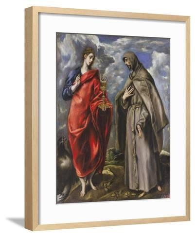 Saint John the Evangelist and Saint Francis-El Greco-Framed Art Print