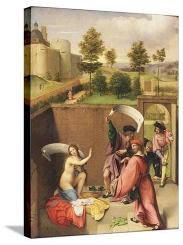 Susanna and the Elders-Lorenzo Lotto-Stretched Canvas Print