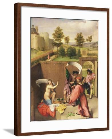 Susanna and the Elders-Lorenzo Lotto-Framed Art Print