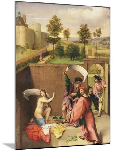 Susanna and the Elders-Lorenzo Lotto-Mounted Giclee Print