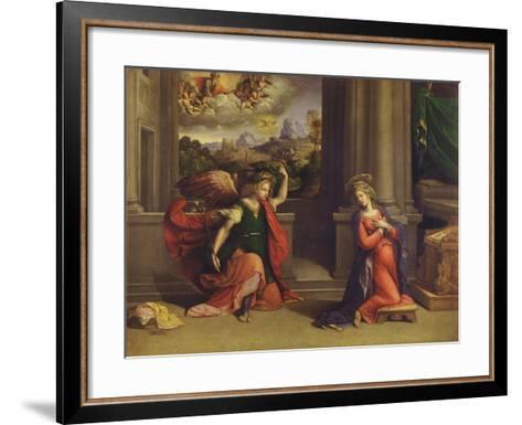 Annunciation-Benvenuto Tisi Da Garofalo-Framed Art Print
