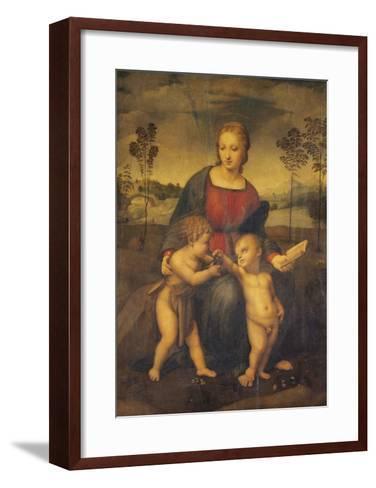 Madonna of the Goldfinch-Raphael-Framed Art Print