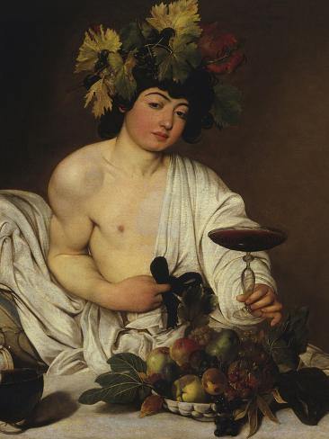 Bacchus-Caravaggio-Stretched Canvas Print