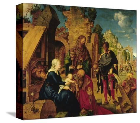 Adoration of the Magi-Albrecht D?rer-Stretched Canvas Print