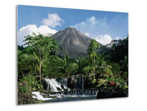 Tabacon Hot Springs and Volcan Arenal-Kevin Schafer-Metal Print