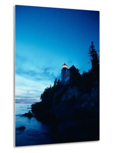 Lighthouse at Dusk-Craig Aurness-Metal Print