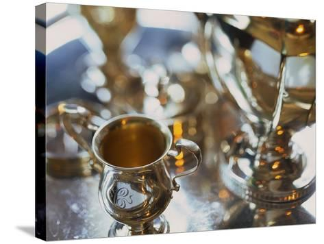 Silver Tea Service-Terry Vine-Stretched Canvas Print