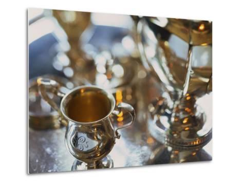 Silver Tea Service-Terry Vine-Metal Print