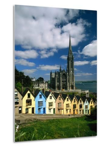St. Coleman's Cathedral of Cobh Behind Colorful Row Houses-Charles O'Rear-Metal Print