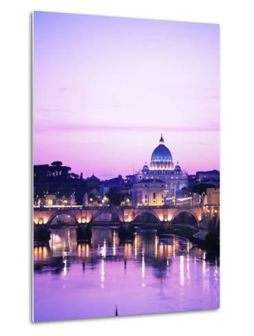 Sant'Angelo Bridge over Tiber River-Dennis Degnan-Metal Print