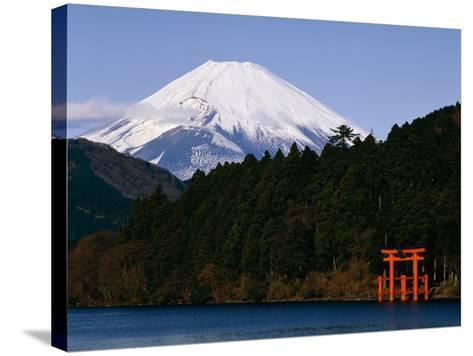 Mount Fuji and Lake Ashi--Stretched Canvas Print