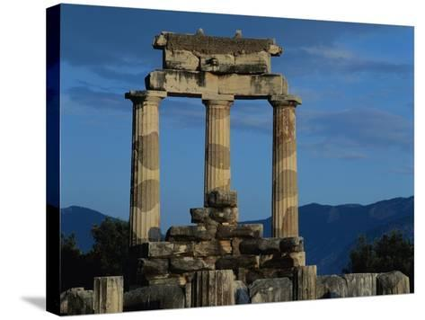 Temple of Tholos in the Sanctuary of Athena-Jim Zuckerman-Stretched Canvas Print