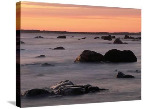 Erratics at Sunset-Raymond Gehman-Stretched Canvas Print