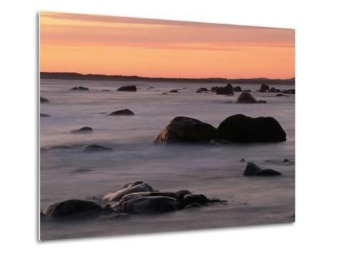 Erratics at Sunset-Raymond Gehman-Metal Print