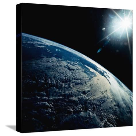 Earth Seen from Space Shuttle Discovery-Bettmann-Stretched Canvas Print
