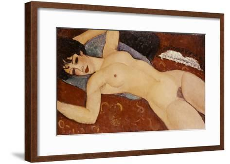 Reclining Nude-Amedeo Modigliani-Framed Art Print