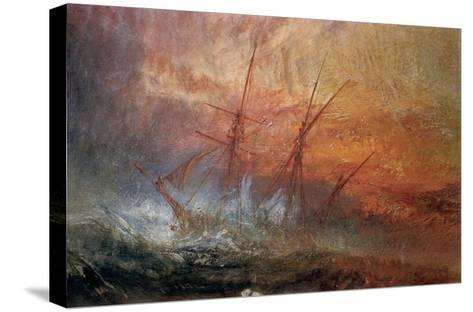Detail of Sailing Ship from The Slave Ship-J^ M^ W^ Turner-Stretched Canvas Print