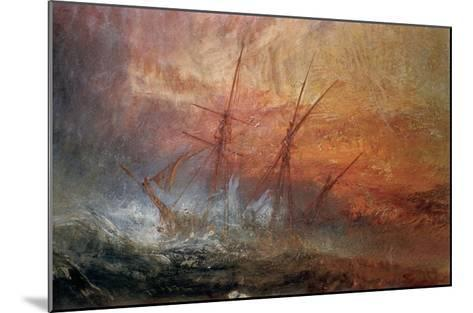 Detail of Sailing Ship from The Slave Ship-J^ M^ W^ Turner-Mounted Giclee Print