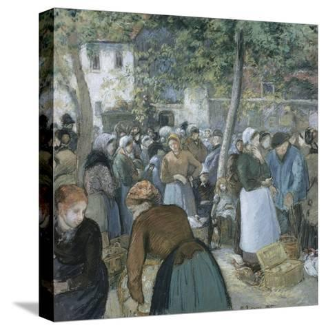 Poultry Market, Gisors-Camille Pissarro-Stretched Canvas Print